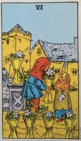 Tarotkaart 6 van kelken