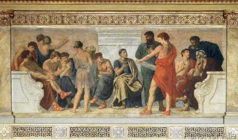 Schilderij van De School van Aristoteles
