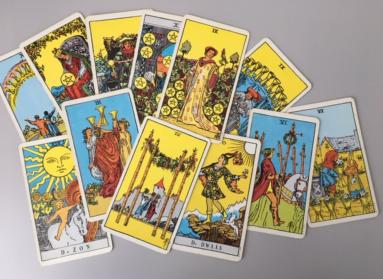 """De """"geniet"""" kaarten uit het Tarot deck van Waite"""