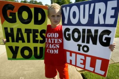 Westboro Baptist church protest tegen homo's