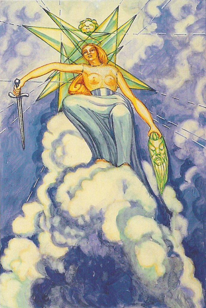 Kali en de koningin van de zwaarden uit de crowley Tarot