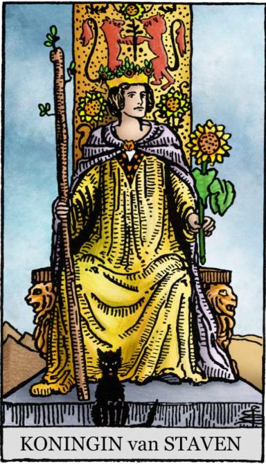 Koningin van Pentakels, Koningin van Bekers, Koningin van Staven